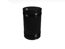 Black oil fuel barrel Royalty Free Stock Images