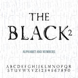 Black oil painted alphabet Royalty Free Stock Images