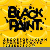 Black oil painted alphabet Royalty Free Stock Photos
