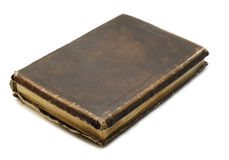 Black old book. Isolated on white Royalty Free Stock Photo