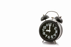 Black old fashion alarm clock. Stock Images