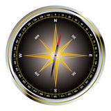 Black old fashioned compass Stock Photography