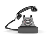 Black old-fashioned old rotary phone  Royalty Free Stock Photo