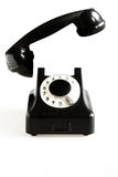 Black old-fashioned phone Stock Image