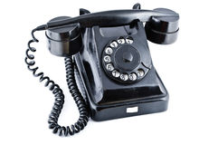 Black old phone Royalty Free Stock Photos