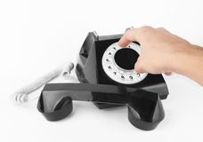 Black old phone Stock Photography