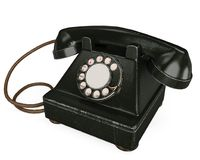 An black and old phone Royalty Free Stock Images