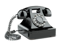 Black old phone Stock Photos