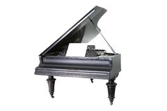 Black old  piano Royalty Free Stock Photography