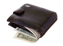 Black old purse Royalty Free Stock Image