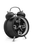 Black old style alarm clock Stock Photography