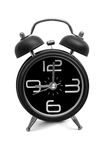 Black old style alarm clock Royalty Free Stock Images