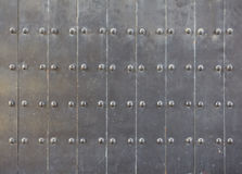 Black old style metal door. Background and texture Royalty Free Stock Photo