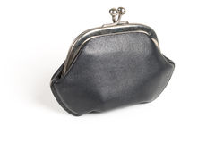 Black old style wallet Stock Image