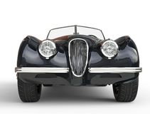 Black old timer car shot on white background - front view Stock Photography