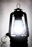 Black old vintage oil lantern Stock Photo