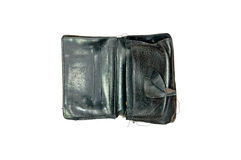 Black old wallet Royalty Free Stock Image