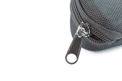 Black old zipper Stock Photography