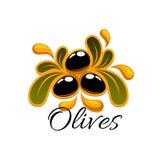 Black olive fruits symbol for food design Stock Photo
