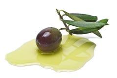 Black Olive in Oil Stock Photos