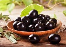 Black olives Stock Image