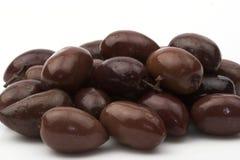 Black olives. Some black olives close up Royalty Free Stock Image