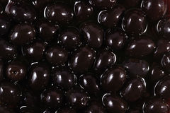 Black olives background Stock Images