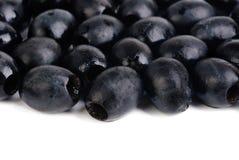 Black olives isolated ower white Stock Image