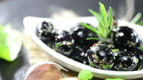 Black Olives (not loopable) stock footage