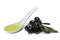 Black Olives and Oil Stock Image