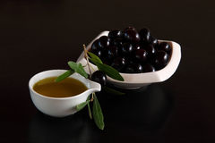 Black olives  - 'Olea europaea maroccana Stock Photography