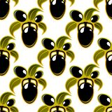 Black olives seamless background pattern Stock Images