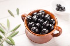 Black olives a tasty appetizer royalty free stock photography