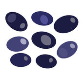 Black olives  on white backround vector Royalty Free Stock Image