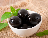 Black olives Stock Images