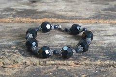 Black Onyx Bead Fine Jewelry Bracelet Royalty Free Stock Photo