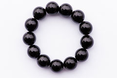 Black onyx bracelet Royalty Free Stock Photo