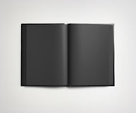 Black open book Stock Images