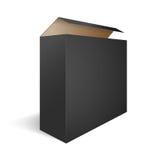 Black Open Box Stock Photography