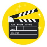 Black open clapperboard Royalty Free Stock Images