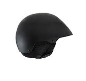 Black open face motorcycle helmet Royalty Free Stock Image