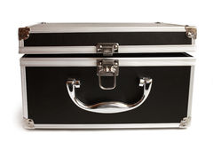 Black open padded aluminum briefcase Stock Photography
