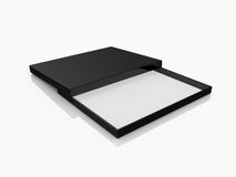 Black Open Rectangle Gift Box Stock Photography