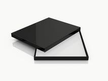 Black Open Rectangle Gift Box Royalty Free Stock Image