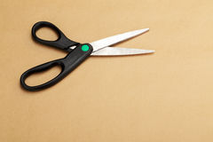 A black opened dressmaker scissors Royalty Free Stock Image