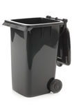 Black opened garbage can Stock Photography