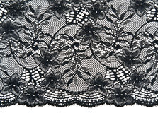 Black openwork lace Royalty Free Stock Photography