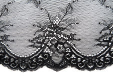 Black openwork lace Stock Images