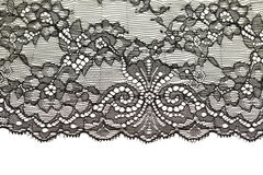 Black openwork lace isolate. Black openwork lace  on white background Stock Images