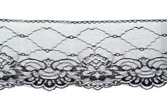 Black openwork lace Stock Image